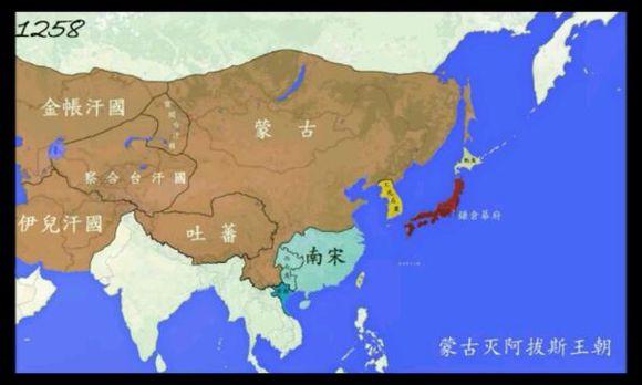 四大汗国独立后蒙古帝国依然存在图片