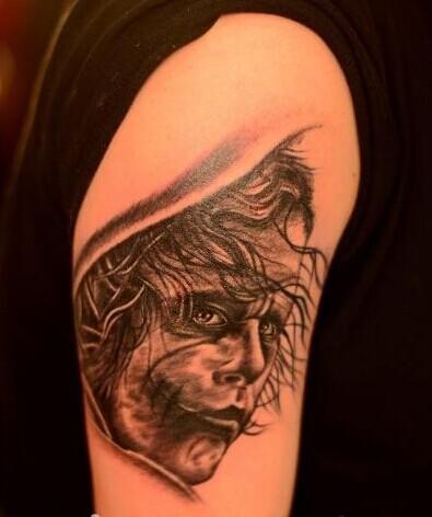 希斯莱杰 小丑纹身图片