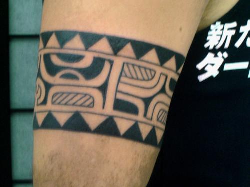 玛雅图腾臂环纹身手稿分享展示图片图片