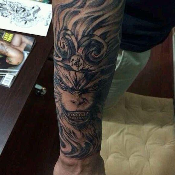 求那张邪恶版孙悟空的纹身草图,手臂前半部分的那张图片