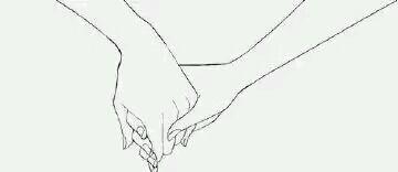 牵手情侣漫画素描