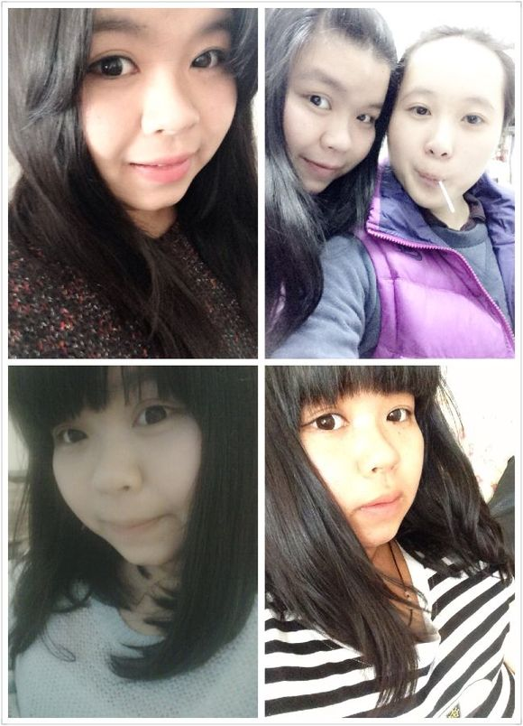 中分像老十岁 无刘海和中分同个月不过素颜 齐刘海一年前图片