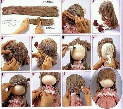 用真头发手工制作分享展示图片