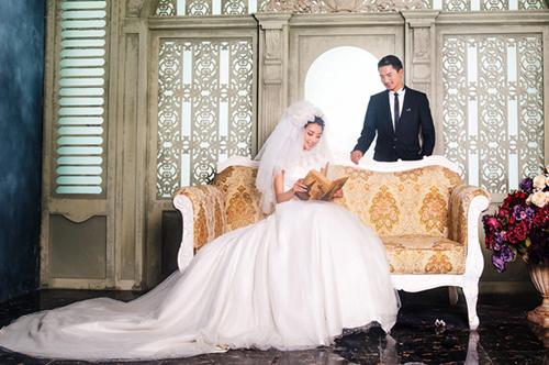 齐刘海拍婚纱照好看吗分享展示图片