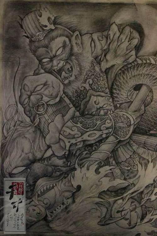 佛于魔纹身 魔悟空纹身图案大图片