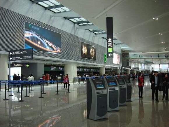 虹桥机场t1航站楼到t2