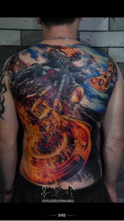 求个现代版降龙伏虎的纹身图片