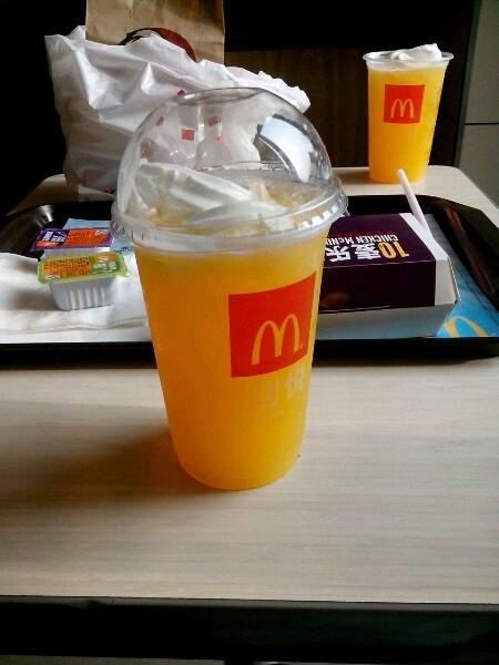 去麦当劳吃了一回麦炫酷阳光橙,感觉不会再爱了图片