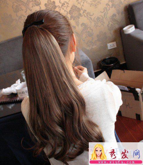长头发到腰,头发不弯,怎么扎起来好看.最好有图,非常