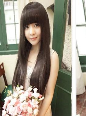 齐刘海发型分享展示