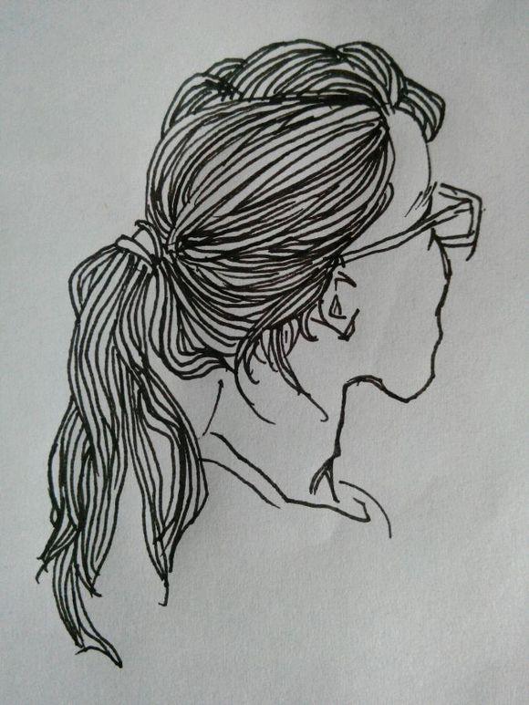 备战速写 头发头部技巧分享_发型设计图片