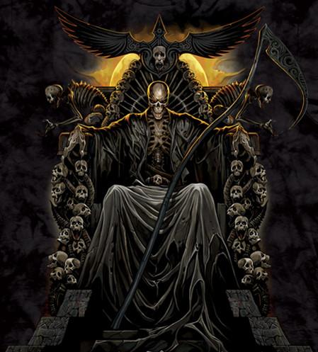 镰刀死神壁纸桌面图片 镰刀死神壁纸死神骷髅拿着
