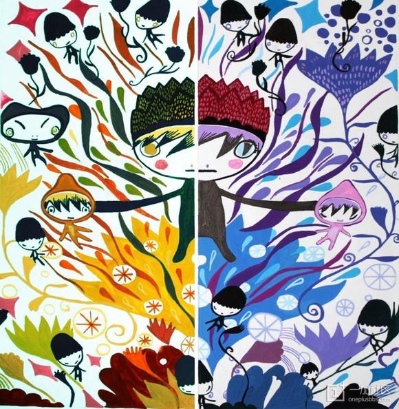 色彩构成冷暖图片高清 明度色彩构成图片 色彩构成对比色图片