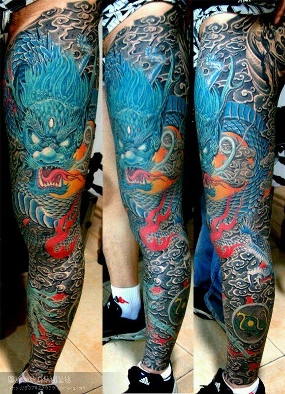 过肩龙纹身师图片展示图片