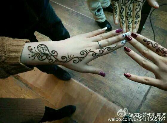 纹手上的纹身图案分享展示图片
