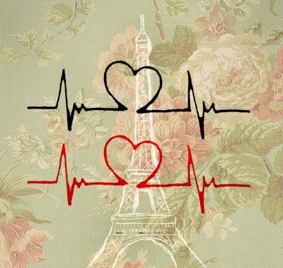 好看的心电图纹身图片展示