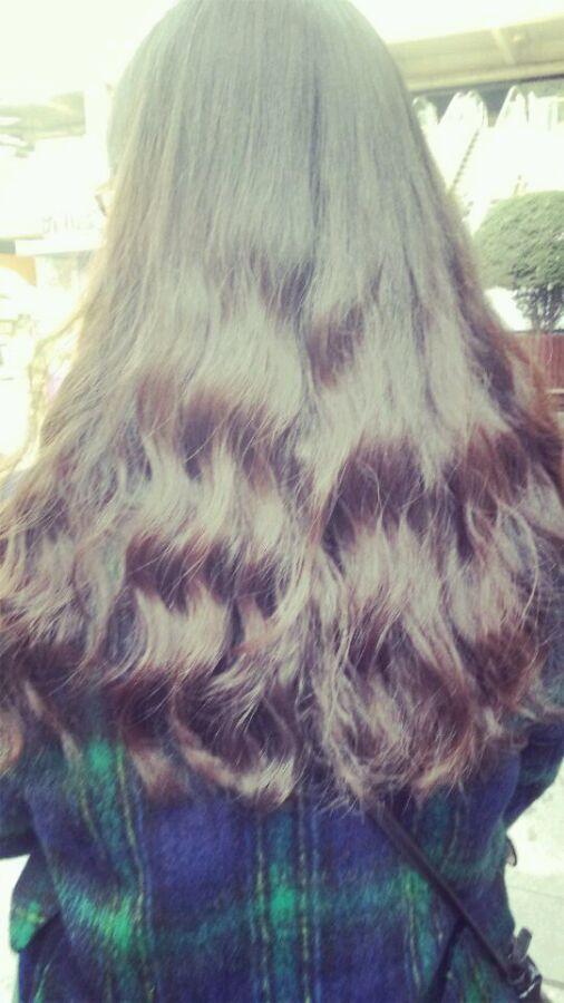 半长头发水波纹分享展示图片