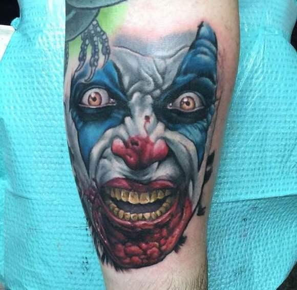 搞怪有趣的小丑纹身图片