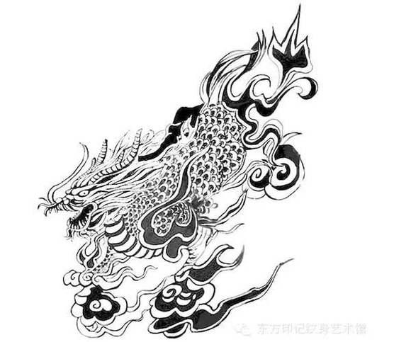 求张起灵麒麟手稿_纹身吧图片图片