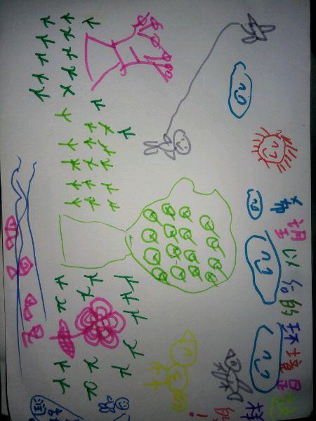 小孩子画里面的愿望图片