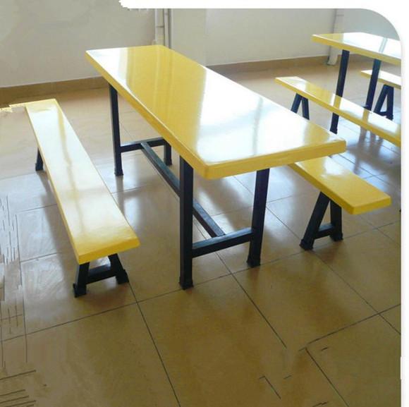 厂家约惠价格八人餐桌椅,东莞食堂玻璃钢餐桌椅部件有刷发电机食堂图片
