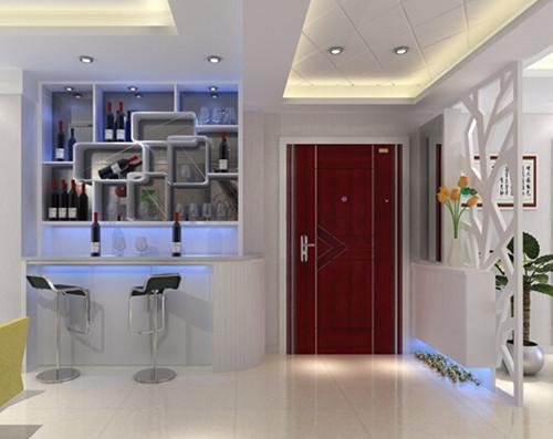 客厅中,这样更能展现家居气质,为家居增添时尚感,而酒柜隔断设计需要