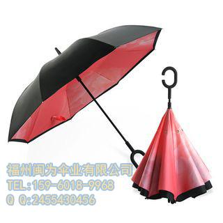 福州27寸反向伞,发光伞,带风扇雨伞定制,厂家图片