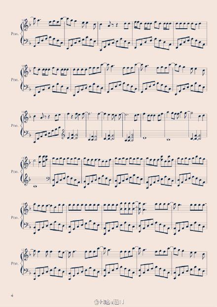 whoyou钢琴谱数字简谱图片