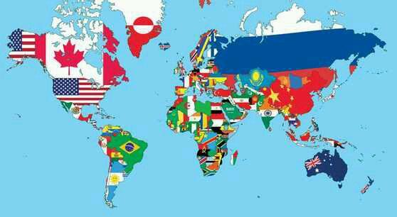 各种各样的国旗世界地图(转)