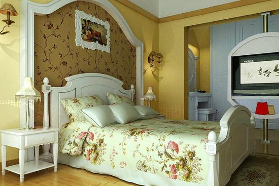 简欧时尚床头背景墙图片