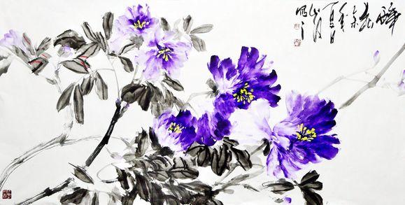 中国画牡丹花图片