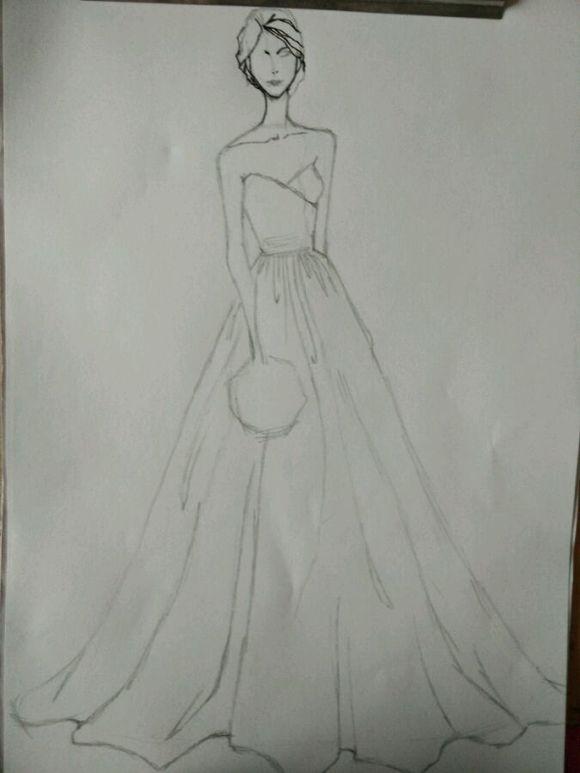 简单服装设计图铅笔画分享展示图片