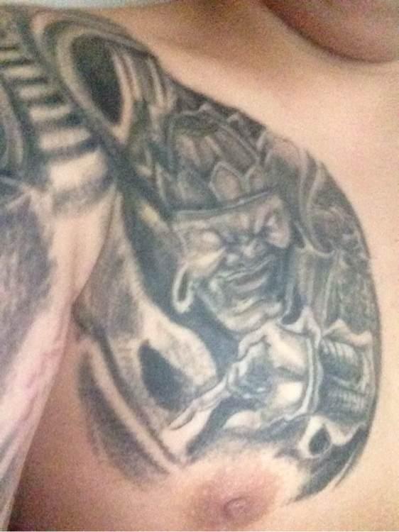 四大天王全甲纹身 半甲纹身 四大天王满背纹身