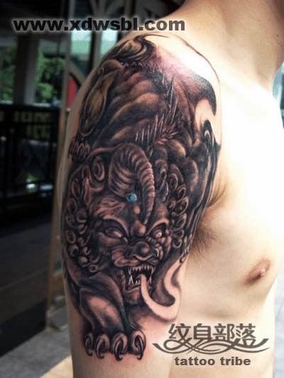 国外纹身大师唐狮纹身手稿分享展示图片