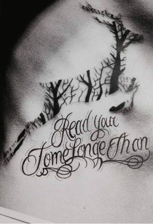 玲珑分享花体字纹身稿图片