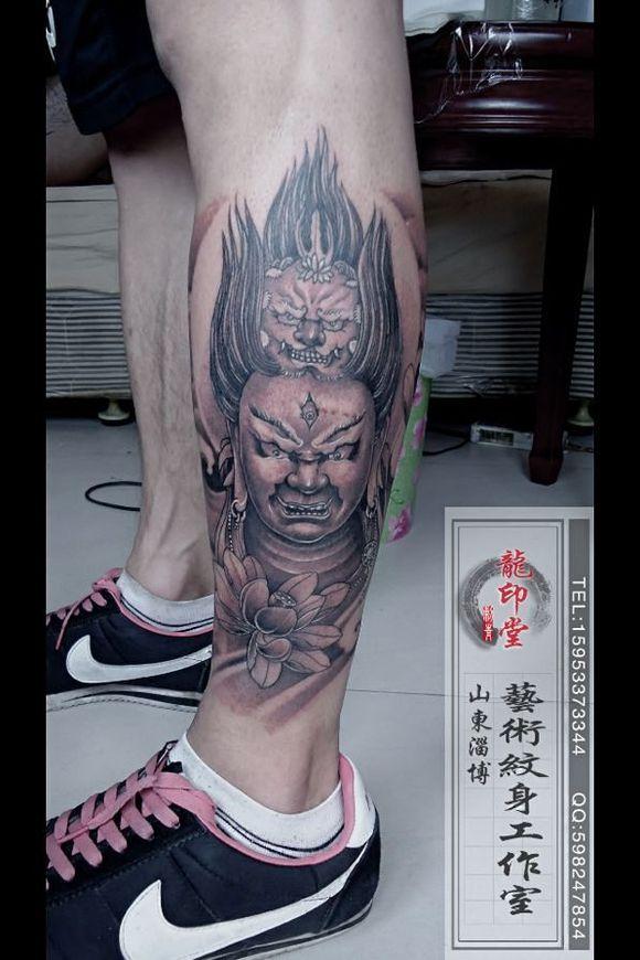 大黑天纹身手臂分享展示图片