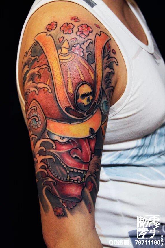 昆明鬼手纹身 大臂鬼武士 纹身师修罗图片