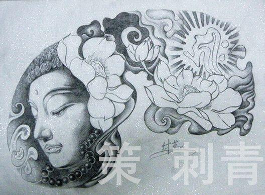 纹身手臂佛手稿分享展示图片