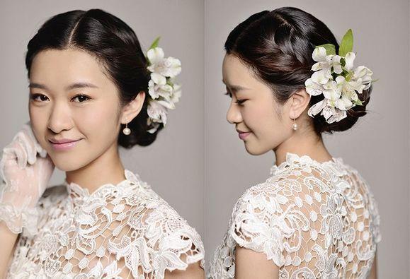 新娘发型设计图片,盘发图片