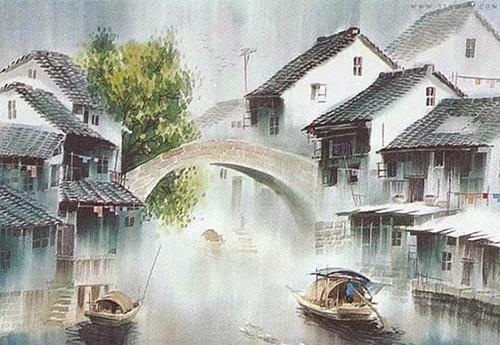 江南是一幅淡淡的水墨画, 用一支毛笔,蘸一点墨, 就能画出心中的江南图片