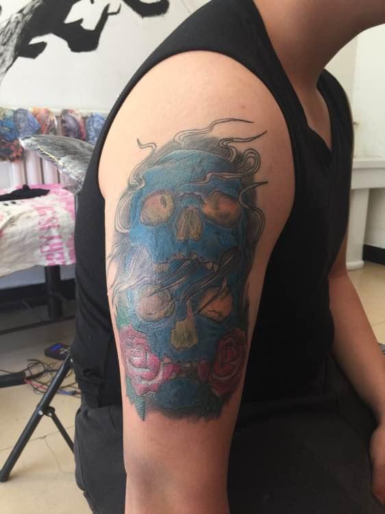 包臂麒麟臂纹身图案分享展示图片