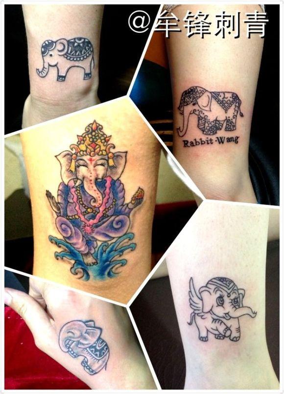 招财保平安女纹身图案分享展示图片