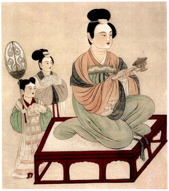 张大千临摹敦煌壁画贵族妇女像4图片