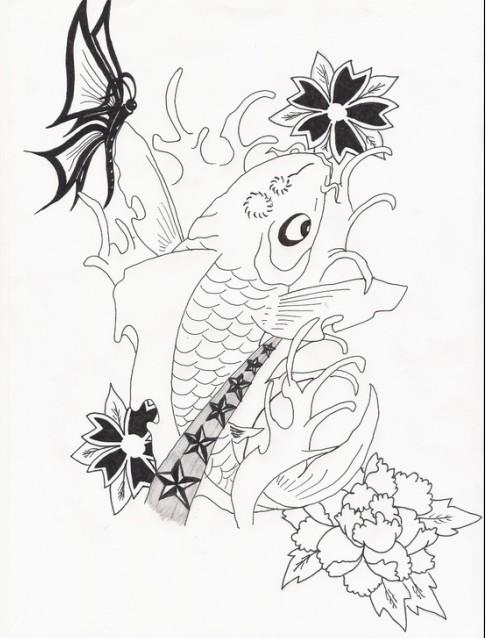 【【【素材专题贴---外国人画的鲤鱼】】】【纹身吧】图片