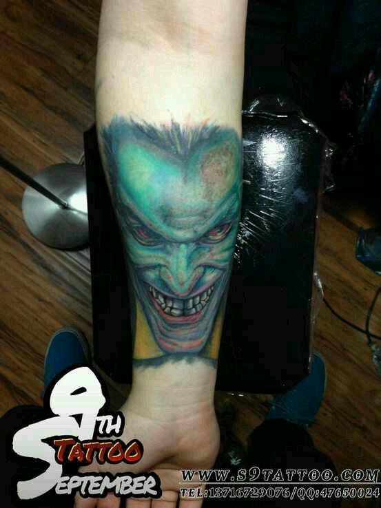 面具小丑黑白纹身分享展示图片