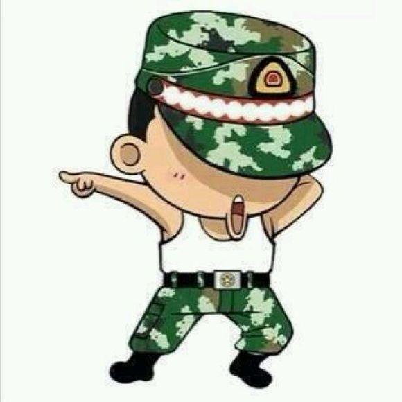 卡通军人 简笔画 中国 军人简笔画 军人简笔画图片