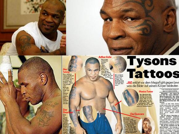 拳王泰森的纹身图图片