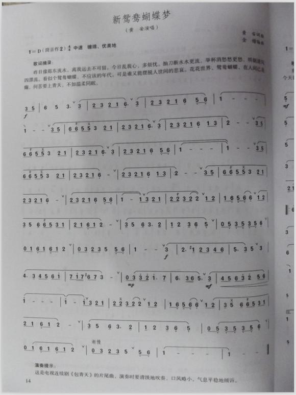 【笛子简谱】主要为流行歌曲(不断更新)图片