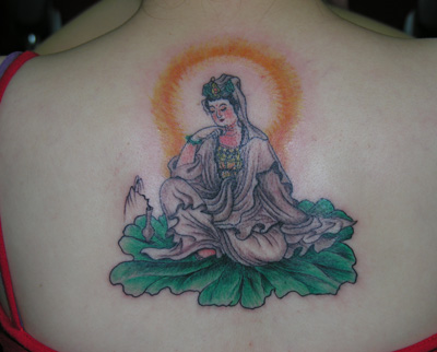 佛像侧脸纹身手稿分享展示图片