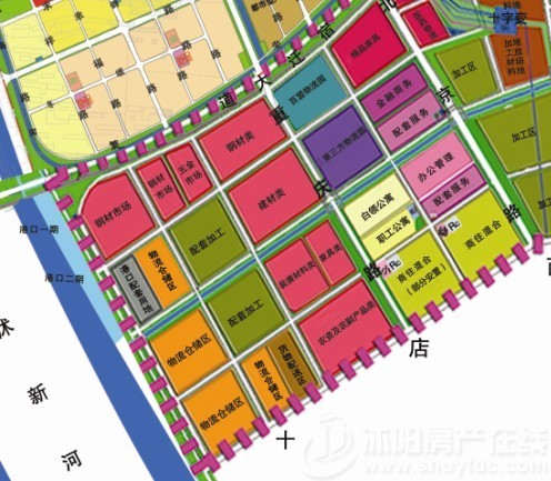南部新城规划的港口经济产业园